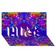 Abstract 2 HUGS 3D Greeting Card (8x4)