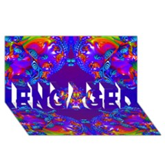 Abstract 2 Engaged 3d Greeting Card (8x4)