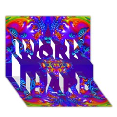 Abstract 2 Work Hard 3d Greeting Card (7x5)