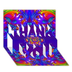 Abstract 2 THANK YOU 3D Greeting Card (7x5)