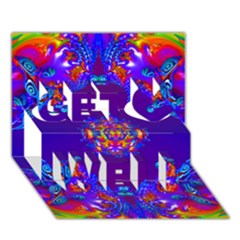 Abstract 2 Get Well 3d Greeting Card (7x5)