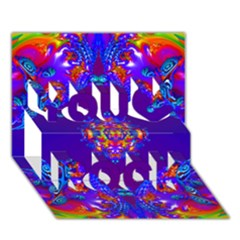 Abstract 2 You Rock 3D Greeting Card (7x5)