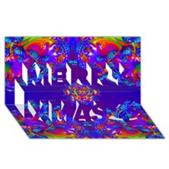 Abstract 2 Merry Xmas 3d Greeting Card (8x4)