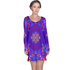 Abstract 2 Long Sleeve Nightdresses