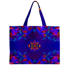 Abstract 2 Zipper Tiny Tote Bags