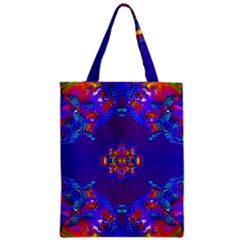 Abstract 2 Zipper Classic Tote Bags