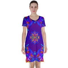 Abstract 2 Short Sleeve Nightdresses