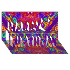 Butterfly Abstract Happy Birthday 3d Greeting Card (8x4)