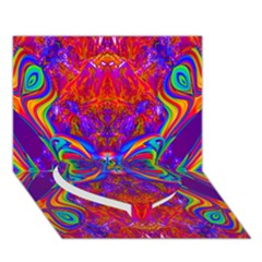 Butterfly Abstract Heart Bottom 3D Greeting Card (7x5)