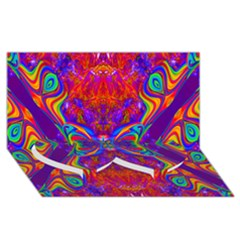 Butterfly Abstract Twin Heart Bottom 3d Greeting Card (8x4)