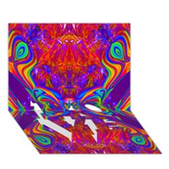 Butterfly Abstract LOVE Bottom 3D Greeting Card (7x5)