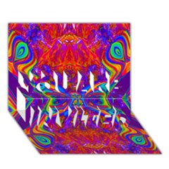 Butterfly Abstract You Are Invited 3d Greeting Card (7x5)