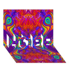 Butterfly Abstract HOPE 3D Greeting Card (7x5)