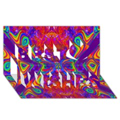 Butterfly Abstract Best Wish 3D Greeting Card (8x4)
