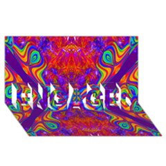 Butterfly Abstract Engaged 3d Greeting Card (8x4)