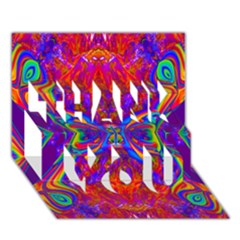Butterfly Abstract THANK YOU 3D Greeting Card (7x5)