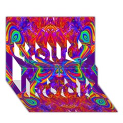 Butterfly Abstract You Rock 3d Greeting Card (7x5)