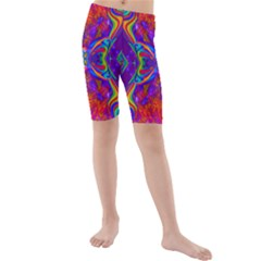Butterfly Abstract Kid s Mid Length Swim Shorts