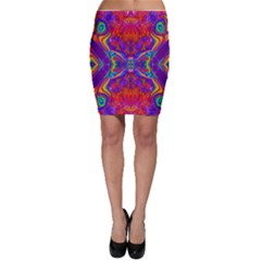 Butterfly Abstract Bodycon Skirt