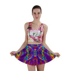 Butterfly Abstract Mini Skirt