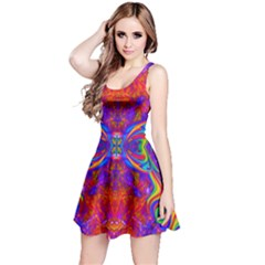 Butterfly Abstract Reversible Sleeveless Dress