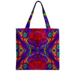 Butterfly Abstract Grocery Tote Bag