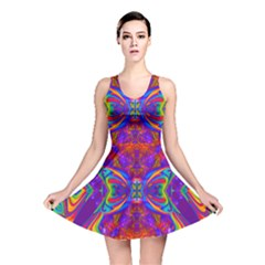 Butterfly Abstract Reversible Skater Dress