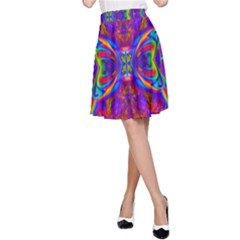 Butterfly Abstract A-Line Skirt