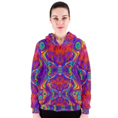 Butterfly Abstract Women s Zipper Hoodie