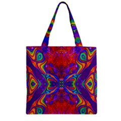 Butterfly Abstract Zipper Grocery Tote Bag