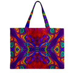 Butterfly Abstract Zipper Mini Tote Bag