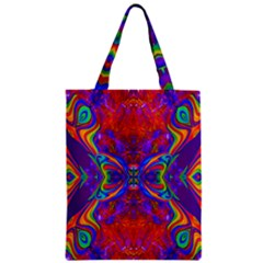 Butterfly Abstract Zipper Classic Tote Bag