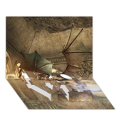 The Dragon Love Bottom 3d Greeting Card (7x5)