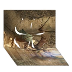 The Dragon Clover 3D Greeting Card (7x5)