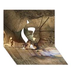 The Dragon Ribbon 3D Greeting Card (7x5)
