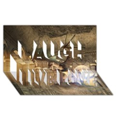 The Dragon Laugh Live Love 3d Greeting Card (8x4)