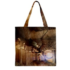 The Dragon Zipper Grocery Tote Bags