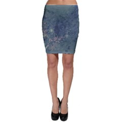 Vintage Floral In Blue Colors Bodycon Skirts