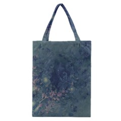 Vintage Floral In Blue Colors Classic Tote Bags