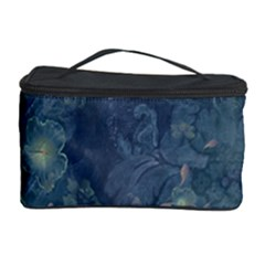 Vintage Floral In Blue Colors Cosmetic Storage Cases