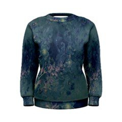Vintage Floral In Blue Colors Women s Sweatshirts