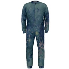 Vintage Floral In Blue Colors OnePiece Jumpsuit (Men)