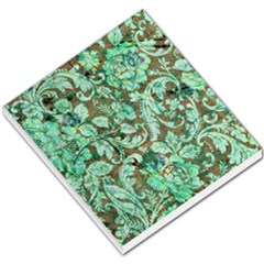 Beautiful Floral Pattern In Green Small Memo Pads