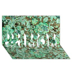 Beautiful Floral Pattern In Green #1 Mom 3d Greeting Cards (8x4)