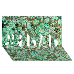 Beautiful Floral Pattern In Green #1 DAD 3D Greeting Card (8x4)