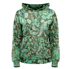 Beautiful Floral Pattern In Green Women s Pullover Hoodies