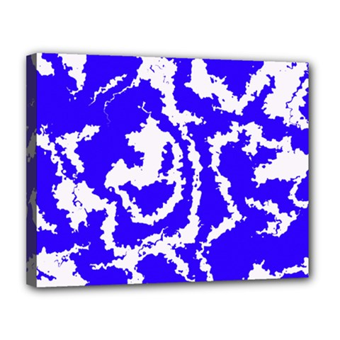 Migraine Blue Canvas 14  x 11