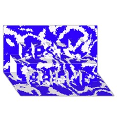 Migraine Blue Best Friends 3D Greeting Card (8x4)