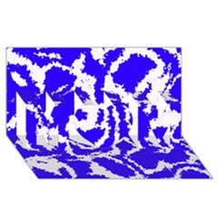 Migraine Blue Mom 3d Greeting Card (8x4)