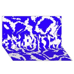 Migraine Blue #1 MOM 3D Greeting Cards (8x4)